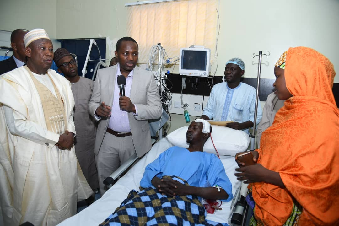 With patient being visited by the Kano state Governor.