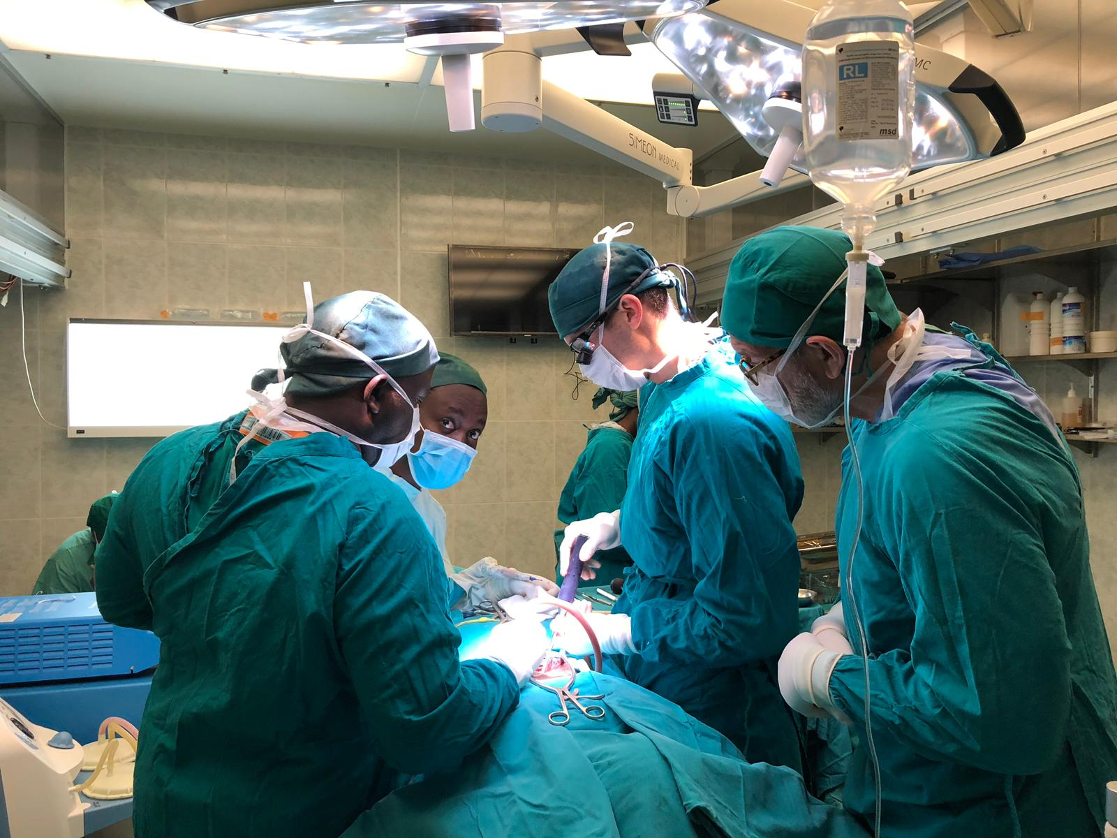 vising surgeons from USA teaching us spinal fusion